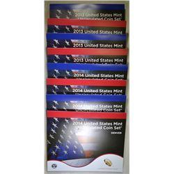 2-2013 & 2-2014 U.S. MINT UNC SETS ORIG PACKAGING