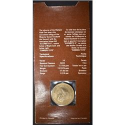 1976 $100 CANADA OLYMPIC GOLD COIN