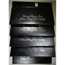 1993, 2-94 & 2-96 U.S. SILVER PROOF SETS