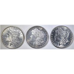 2-1882-S, 87 MORGAN DOLLARS BU cleaned