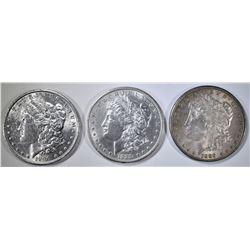 2-1889 & 1-90 MORGAN DOLLARS BU