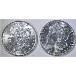 1886 & 87 CH BU MORGAN DPLLARS