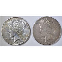 1935 XF & 1935-S AU PEACE DOLLARS