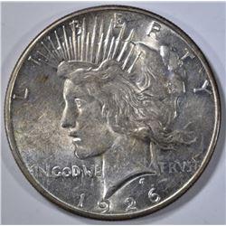 1926-S PEACE DOLLAR, AU/BU