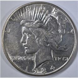 1934-D PEACE DOLLAR, AU/BU