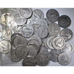 40-90% SILVER U.S. QUARTERS, WELL CIRCULATED