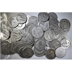 60-90% SILVER U.S. QUARTERS, WELL CIRCULATED