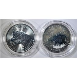 2012 MOOSE & 2019 ROARING GRIZZLY CANADA COINS