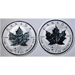 2-2018 CANADA REV PROOF SILVER MAPLE LEAF COINS