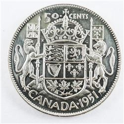 1951 Canada 50 Cents Silver