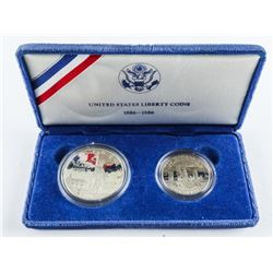 1886-1986 Ellis Island 2 Coin Set
