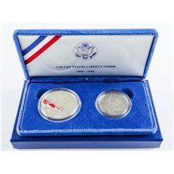 1986 USA Silver Half and Dollar Coins, Ellis Islan