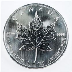 2006 .9999 Fine Silver Maple Leaf 5.00 Coin