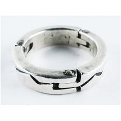 Estate 925 Silver Band Ring, Size 9