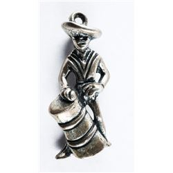 Estate 925 Silver Mexican Drummer