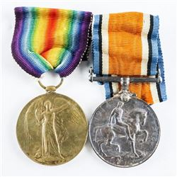 CANADA WW1 - Pair of War Medals 1914-1919