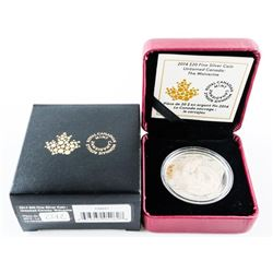2014 $20.00 Fine Silver Coin - Untamed Canada: Wol