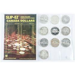 Estate lot (10) Canada Silver Dollars: Includes 19