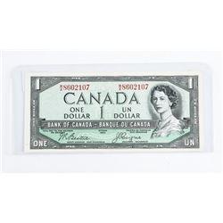 Bank of Canada 1954 1.00 Devil's Face BC-29b CH-UN