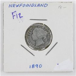 1890 NFLD Victoria 10 Cents F12 (OR)