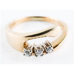 Estate 10kt Gold Ring Diamond Set - Size 5 3/4