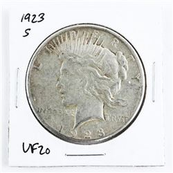 1923(S) USA Peace Dollar (VF20)