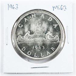 1963 Canada Silver Dollar MS63