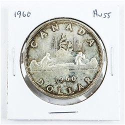 1960 Canada Silver Dollar AU55