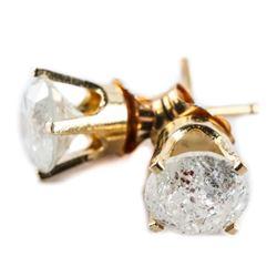 Estate 10kt Gold Diamond Stud Earrings (OXR)