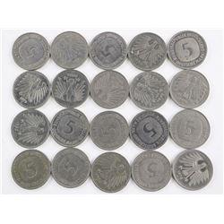 Estate Bag Lot - German 5 D.M. Coins