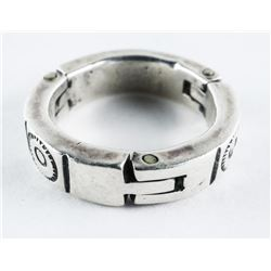 Estate 925 Silver Ring Gents Heavy Band Ring Size