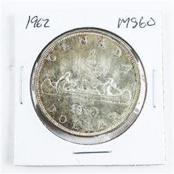 1962 Canada Silver Dollar MS60