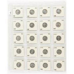 Lot (20) 1968 UNC BU Canada 10 Cents