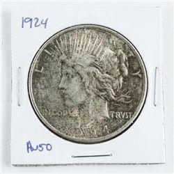 1885 USA Liberty Dollar AU50