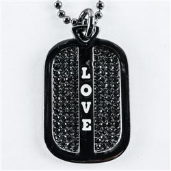 'MM' Designer Love Legions Dog Tags with Bead Chai