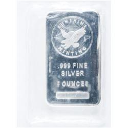 .9999 Fine Silver Bar 5 ounces