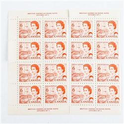 Lot (4) Blocks of (4) Canadian 6 Cent Stamps; #459