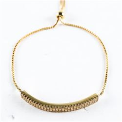 18kt Gold Plated Bracelet Micro Pave Set