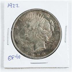 1922 USA Liberty Dollar EF40