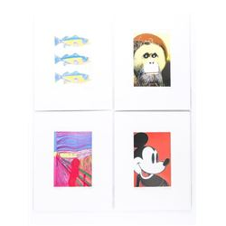 """Group of (4) Andy Warhol 'The Detail Series' 4x6"""""""