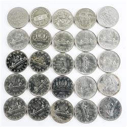 Lot (25) Canada Nickel Dollar Coins Mixed