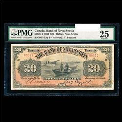 Scarce - Bank of Nova Scotia $20 1903 Payzant, R. PMG VF-25