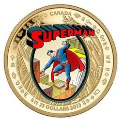Sold Out - 2013 $75 75th Anniversary of Superman. The Early Years. 14kt Gold. Brand New in Box, All