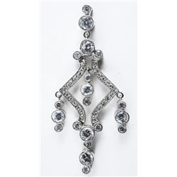 925 Silver Estate Custom Pendant Set with Swarovsk