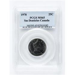 1978 Canada 25 cent. PCGS. MS65