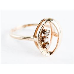 Estate 10kt Gold Diamond Heart Pendant