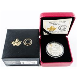 2015 $10.00 .9999 Fine Silver Coin - Canoe Across