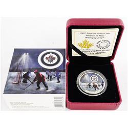 .9999 Fine Silver $10.00 Coin NHL Hockey Logo - Wi