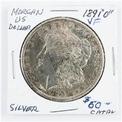 1891(O) US Silver Morgan Dollar (10) V.F. (CR)