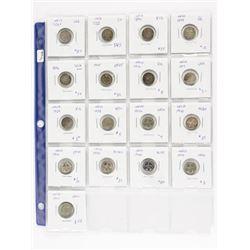 Estate Lot - 17 Coins NFLD Silver 5 Cents (OAI)